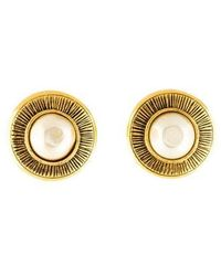Chanel - Clip-on Earrings Gold - Lyst