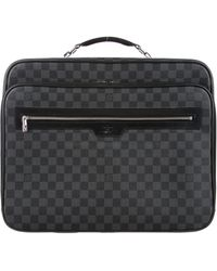 Louis Vuitton - Damier Graphite Pilot Case Black - Lyst