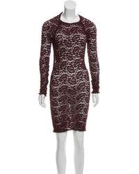Étoile Isabel Marant - Patterned Bodycon Dress Burgundy - Lyst