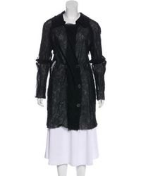 Lanvin - Wool And Silk Coat - Lyst