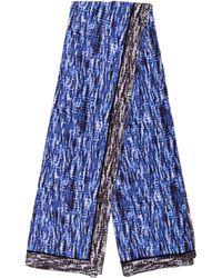 Proenza Schouler - Print Cotton Scarf Blue - Lyst
