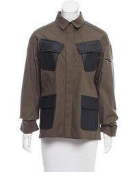 Marissa Webb - Sadie Leather-trimmed Jacket Olive - Lyst