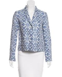 Creatures of the Wind - Printed Shawl-lapel Blazer Navy - Lyst