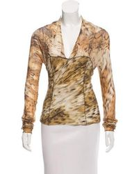 128f383907bb Lyst - Roberto Cavalli Paisley -accented Top Gold in Metallic