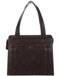 Lyst - Chanel Suede Vintage Shoulder Bag Gold in Metallic 02b53be413008