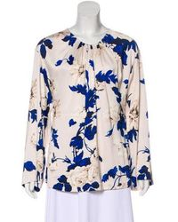 Lover - Floral Print Pleated Top W/ Tags - Lyst
