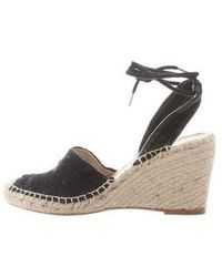0784a2f5b22 Lyst - Stella Mccartney Espadrille Wedge Sandals Neon in Yellow
