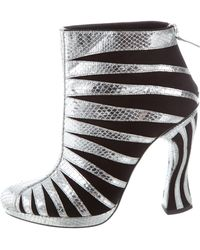 Rodarte - Embossed Ankle Boots W/ Tags Black - Lyst