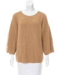 A.P.C. - Camel Crew Neck Sweater Tan - Lyst