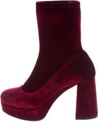 Cheap 2018 New Many Colors Miu Miu Navy Velvet Platform Sock Boots Ebay Clearance Authentic wxlvSgZKX