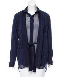 Sies Marjan - Wool Pinstripe Coat W/ Tags Navy - Lyst