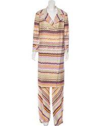 Missoni - Patterned Knit Pantsuit Multicolor - Lyst