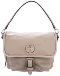 19b4ff708be Lyst - Tory Burch Grained Leather Crossbody Bag Gold in Metallic