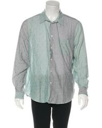 Opening Ceremony - Colorblock Woven Shirt Grey - Lyst