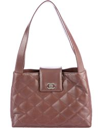 5ab5b6758635 Lyst - Chanel Classic Medium Double Flap Bag Black in Metallic