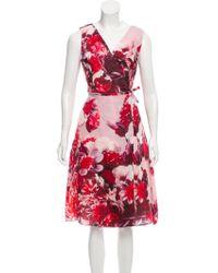 Carolina Herrera - Silk Midi Dress W/ Tags - Lyst
