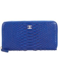 845693f062cb Chanel Camellia L-gusset Wallet Silver in Metallic | Lyst