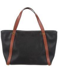 c135f1f704 Lyst - Bottega Veneta Marco Polo Handle Bag Black in Metallic