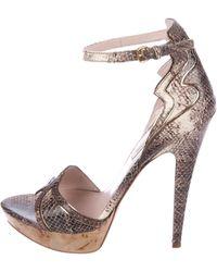 d4c17dfc9b0 Lyst - Dior Leather Platform Clogs Tan in Natural
