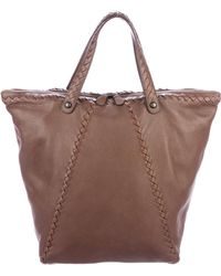 Bottega Veneta - Intrecciato-trimmed Leather Tote - Lyst