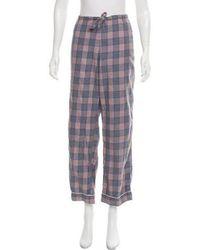 Steven Alan - Plaid Pajama Pants Grey - Lyst