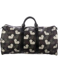 Ports 1961 - Leather-trimmed Star Camo Weekender Olive - Lyst