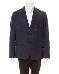 Dior Homme - Virgin Wool Windowpane Sport Coat Navy - Lyst