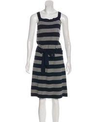 Sonia by Sonia Rykiel - Sonia By Rykiel Striped Knee-length Dress Navy - Lyst