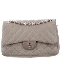 4dec7df9ad9f Lyst - Chanel Vintage Classic Medium Double Flap Bag Gold in Metallic