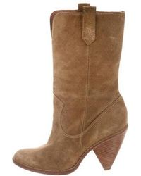 Kors by Michael Kors - Kors By Michael Suede Mid-calf Boots Tan - Lyst