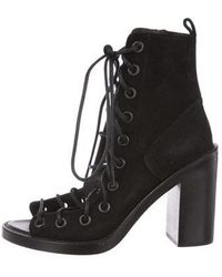 Ann Demeulemeester - Suede Lace-up Booties - Lyst