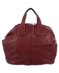 Givenchy - Leather Nightingale Handle Bag Red - Lyst