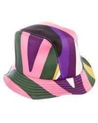 Emilio Pucci - Satin Printed Bucket Hat - Lyst b945c7a1c20e