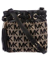 63fde81715f6d MICHAEL Michael Kors - Michael Kors Woven Logo Crossbody Bag Black - Lyst