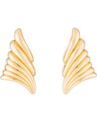 Dior - Ribbon Clip-on Earrings Gold - Lyst
