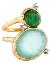 Alexis Bittar - Multistone Elements Mystic Rivulet Ring Gold - Lyst