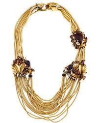 Erickson Beamon - Resin, Crystal & Tiger's Eye Collar Necklace Gold - Lyst