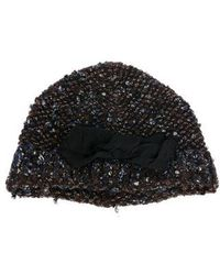 Lanvin - Knit Bow-accented Beanie - Lyst