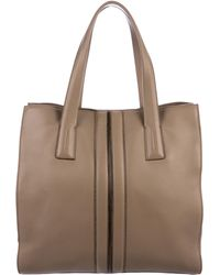 Tod's - Leather Script Shopping Tote Tan - Lyst