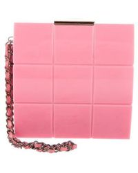 Chanel - Lucite Box Clutch Pink - Lyst