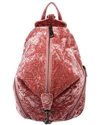 Rebecca Minkoff - Julian Velvet Backpack Pink - Lyst