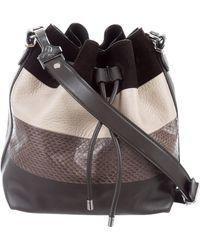 Proenza Schouler - Snakeskin-trimmed Crosby Bucket Bag Multicolor - Lyst