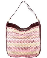 Missoni - Patent Leather-trimmed Hobo Red - Lyst