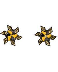 M.c.l  Matthew Campbell Laurenza - Sapphire & Enamel Pinwheel Earrings Silver - Lyst