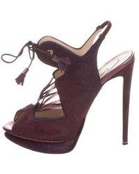 Nicholas Kirkwood - Ponyhair Platform Sandals - Lyst