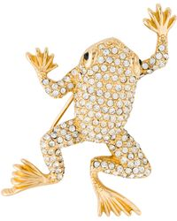 Dior - Crystal Frog Pin Gold - Lyst