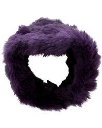 Adrienne Landau - Violet Fur Headband - Lyst