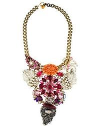 Lulu Frost - Crystal Bib Necklace Brass - Lyst