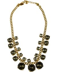 Kate Spade - Crystal Court Collar Necklace Gold - Lyst