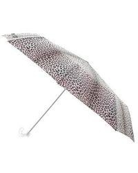 Marc Jacobs - Animal Print J-handle Umbrella Black - Lyst
